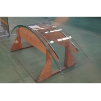 Laminated tempered hot bending glass