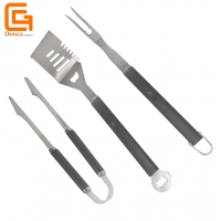 China 3pcs BBQ Tool Set Stainless Steel Barbeque Tools for Grilling on sale