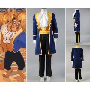 China Princess Dress Wholesale Blue Beauty and the Beast Prince Adam Cosplay Costume Jacket Shirt Pants Cartoon on sale