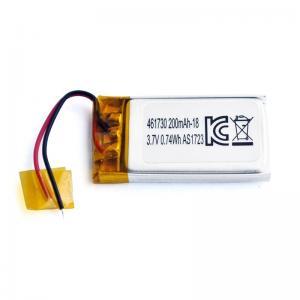 Best UN38.3 200mAh 3.7 V Lithium Polymer Battery Pack PL461730 wholesale