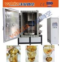 Gold Color Glass Cups Vacuum PVD Plating Machine on Crystal