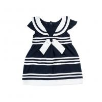 Buy cheap Navy Blue Color Baby Girl Clothing Sets Newborn Baby Outfits Stripe Pattern from wholesalers