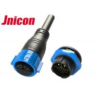 China 30A DC Data Waterproof Cable Connector IP67 20 Pin Self Locking Multi - Core Structure on sale