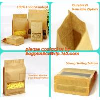 100% Food Grade Customized Recyclable Eco Zipper Eight Side Sealed Biodegradable