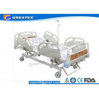 Best Folding adjustable Manual Hospital Bed / Three crank hospital bed PP materials , ABS wholesale