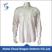 Best Cotton Twill White Long Sleeve Security Guard Shirts Traditional Style Printed Logo wholesale