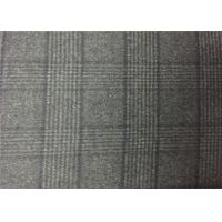 Best 720G/M Charcoal Plaid Double Faced Wool Fabric For Coats , Double Weave Fabric wholesale