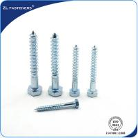 Best DIN571 Zinc Coated, Carbon Steel, Full Thread Hex wood screw wholesale