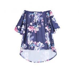 China Beautiful Women'S Organic Cotton T Shirts , Oversized Short Sleeve Shirt Womens on sale