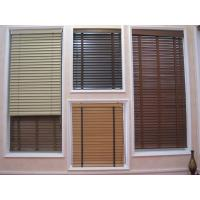 Best 35mm 100% basswood venetian blinds for windows with steel headrail and wooden bottomrail wholesale