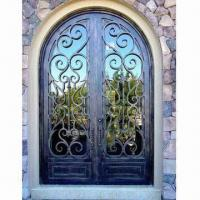 Best Wrought Iron Entry Doors with Anti-rust Treatment, Customized Sizes and Colors are Accepted wholesale