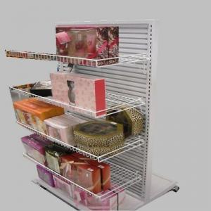 Best T Type Semi Circle Supermarket Display Shelves 50mm Pitch European System wholesale
