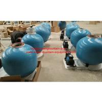 China 25 Inch Fiberglass Swimming Pool Sand Filters With Pump Set Filtration System on sale