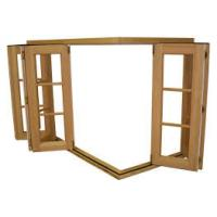 Buy cheap Durable Wood Grain Aluminum Bifold Windows With Nylon Fly Screen Customized Size from wholesalers