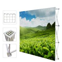 Best Portable Trade Show Backdrop Stand Various Shapes Detachable Frame 250g Fabric wholesale