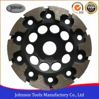 Best 125mm T Segment Diamond Cup Grinding Wheel For Concrete Metal Bond Material wholesale