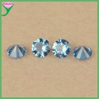 Best factory wholesale India 119# round blue artificial sapphire stone price wholesale