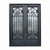 Best Wrought Iron Door with Dual-pane Tempered Glass, Customized Sizes are Accepted wholesale