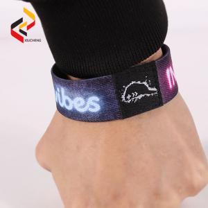Best Custom RFID programmed elastic fabric woven bracelet smart for event wholesale
