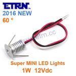 Best DC12V 1W Round Super MINI LED Single Downlight LED Cabinet Light Spotlights Big Shining wholesale