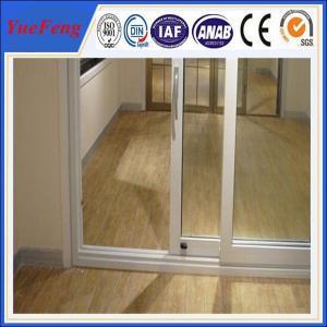 Best aluminium door frame price,6063 high standard aluminium profile for sliding glass door wholesale