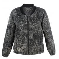 China Grey Texture Ladies Short Coat , Plus Size Womens Winter Coats With Neck Rib And Zipper on sale