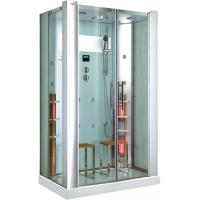 China Rectangle Steam Shower Room With Infrared Sauna CE , 5mm Clear Glass on sale