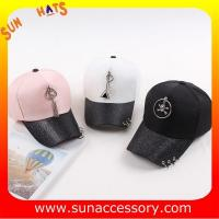 Buy cheap QF17041 trendy fashion girls baseball cap, OEM and ODM cap factory wholesale from wholesalers