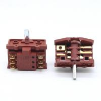 Best Knob 6 Pins 2 Position Rotary Switch For Oven  Stove 250V 16A Brass Terminal wholesale