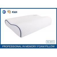 Best Customized Embroidery Logo Tencel Fabric Contour Memory Foam Pillow With Piping wholesale