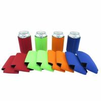 Best Qualified promotional foldable beer sleeve neoprene beer Can Cooler Holder size:10cmc*13cm  Material is neoprene wholesale