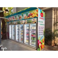 China New Developed Smart fridge for fruits. Tap and go vending machine, Open Door to Select, Micro Super Market, Micron on sale