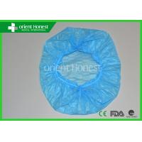 China 21'' Mob Elastic Disposable Surgical Caps For Hospital In Blue wholesale