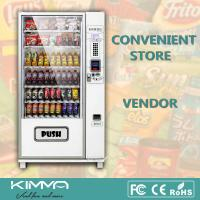 Best Outdoor Popcorn Soft Drinks Combo Vending Machine By Coin And Bill Operated wholesale