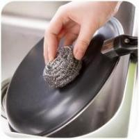 Best Antibacterial Stainless Steel Scouring Pad , Oil Removing Metal Dish Scrubber wholesale
