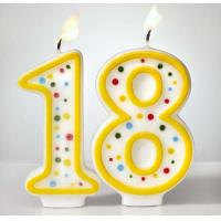 Cheap Custom Arabic Number Birthday Candles 1 To 18 With Colorful Dot No Harmful for sale