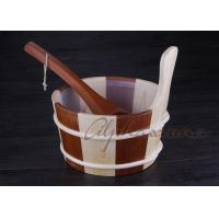 Buy cheap Popular sauna buckets And Ladle , portable home sauna set Durable product