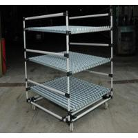 Best Heavy Duty steel Pipe Rack with Caster Wheels , Lean Pipe and Black Pipe Joint Assemble wholesale