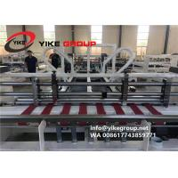 Best Automatic Corrugated Box Folder Gluer With PP Strapper Machine , Carton Machine wholesale