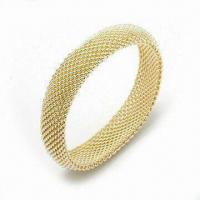 Best 925 Sterling Silver Bangle with Fashionable Design and Gold Plating wholesale