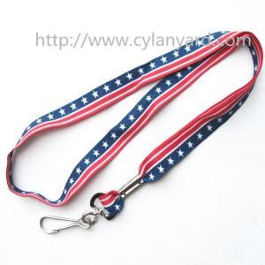 China Full color pattern print neck strap lanyards, designer full color medal holder lanyard, on sale