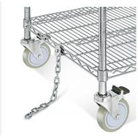 Best Electrostatic Discharge Chrome Wire Shelving Trolley 3 Tier For Electronics Industry wholesale