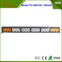Best 14400lm  32.6 inch amber and white color cover 180w single stack off-road led light bar wholesale