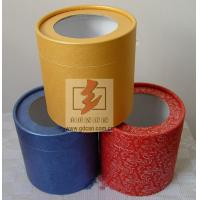 Custom Recycled Paper Tube Box Container , Cosmetic Tube Packaging