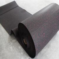 China Black Rubber Sports Flooring , Gym Sports Flooring Anti - Slip Feature on sale