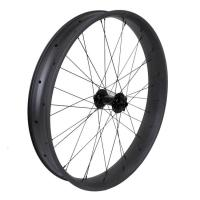 China 26er Full Carbon Wide Bicycle Wheels Clincher 90mm Aero Beach UD / 3K Weave on sale