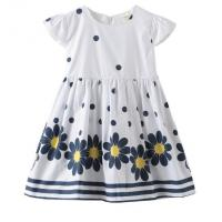 Best Summer Infant Baby Girl Dresses / Newborn Girl Dresses With Waistband And Prints wholesale