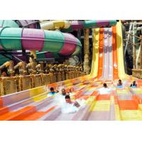 Best Anti - Static High Speed Slide Beautiful Rainbow Color For Water Sports Park wholesale