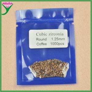Best wholesale price round small size loose gemstones 1.25mm coffee zircon gemstone wholesale
