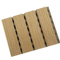 China Noise Reduction Wooden Grooved Acoustic Panel ,  Wood Panels For Walls And Ceilings on sale